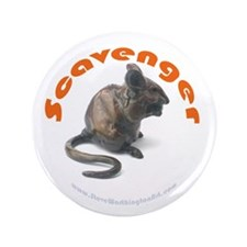 """3.5"""" Button 'Scavenger' (Chubby mouse eating)"""