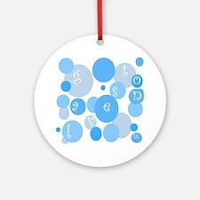 Galveston Blue Bubbles Ornament (Round)