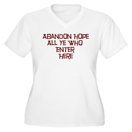 Abandon Hope All Ye Who Enter Women's Plus Size V-