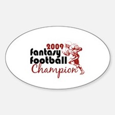 Fantasy Football Champ 2009 Oval Decal