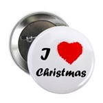 """I Love Christmas 2.25"""" Button (100 pack)"""