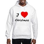 I Love Christmas Hooded Sweatshirt