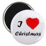 """I Love Christmas 2.25"""" Magnet (10 pack)"""