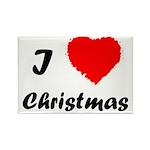 I Love Christmas Rectangle Magnet (10 pack)