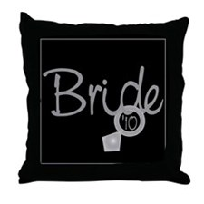 Bride '10 (ring) Throw Pillow