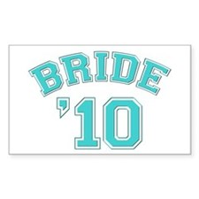Bride '10 (sporty) Rectangle Decal