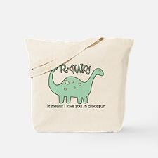 'Dinosaur Rawr' Tote Bag