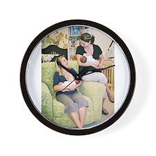 Cute Nursing mom Wall Clock