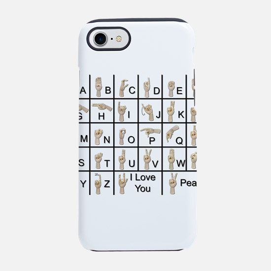 AmeslanAlphabet120710.png iPhone 7 Tough Case