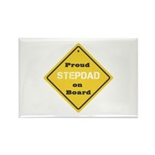 Proud Stepdad on Board Rectangle Magnet