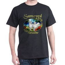 Samoyed Dogs Paradise Black T-Shirt