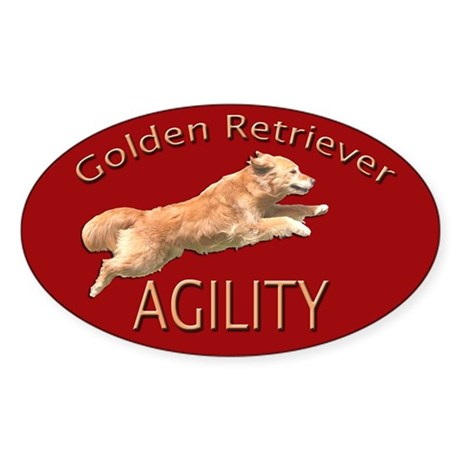 Golden Retriever Agility Red Decal