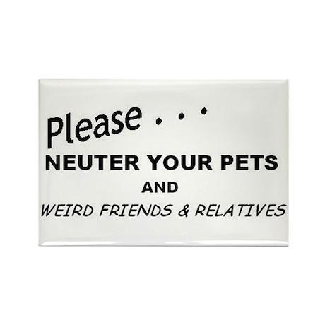 Neuter Rectangle Magnet (10 pack)