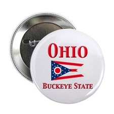 "Ohio Buckeye State 2.25"" Button"