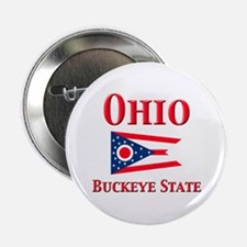 "Ohio Buckeye State 2.25"" Button"