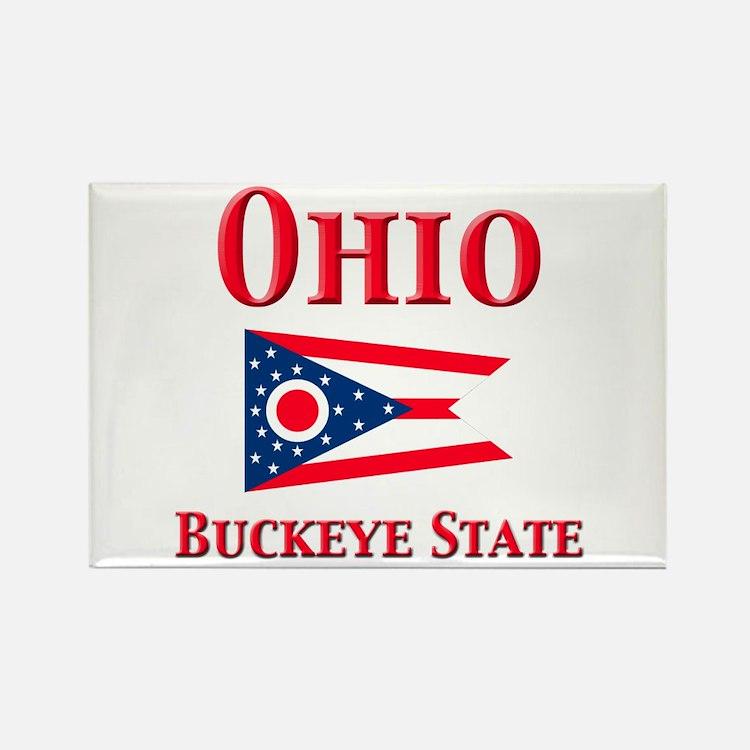 Ohio Buckeye State Rectangle Magnet