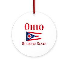 Ohio Buckeye State Ornament (Round)
