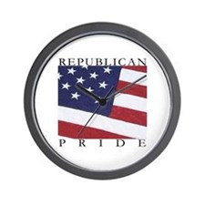 "Conservative ""Republican Pride"" Wall Clock"