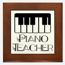 Piano Music Teacher Framed Tile