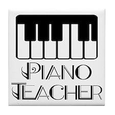 Piano Music Teacher Tile Coaster