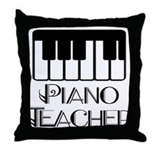 Piano Music Teacher Throw Pillow
