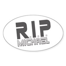 R.I.P. Michael Oval Decal