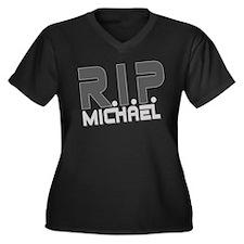 R.I.P. Michael Women's Plus Size V-Neck Dark T-Shi