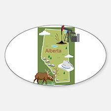 Alberta Map Oval Decal