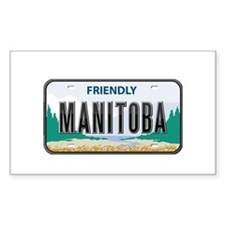 Manitoba Plate Rectangle Decal