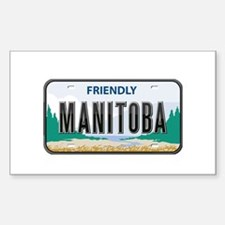 Manitoba Plate Rectangle Stickers
