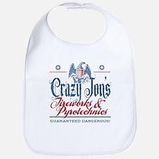 Crazy Jon's Funny Fireworks Company Bib