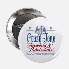 "Crazy Jon's Funny Fireworks Company 2.25"" Button ("