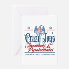 Crazy Jon's Funny Fireworks Company Greeting Card