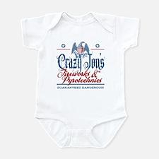 Crazy Jon's Funny Fireworks Company Infant Bodysui