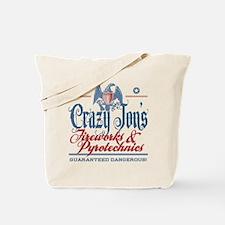 Crazy Jon's Funny Fireworks Company Tote Bag