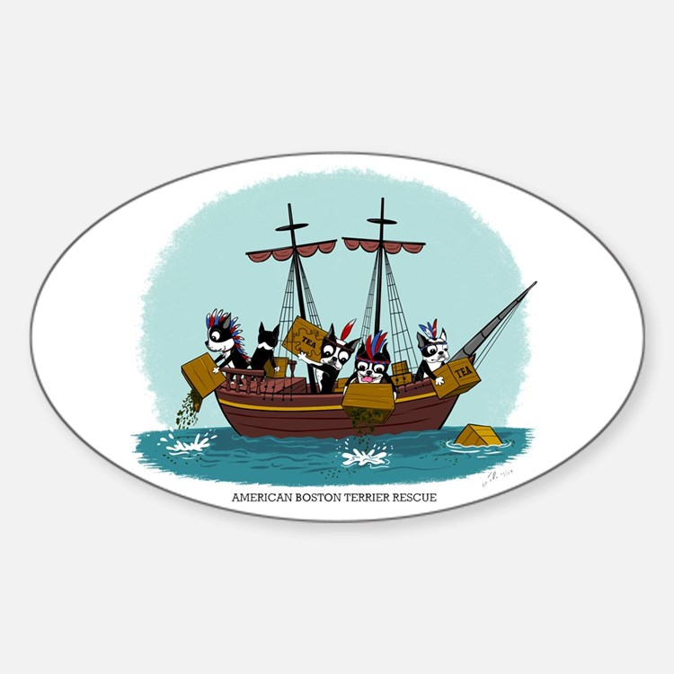 Boston Tea Party Oval Decal