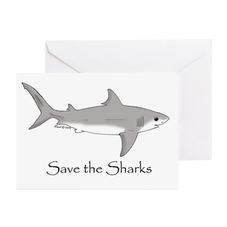 Shark Greeting Cards (Pk of 10)