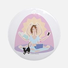Busy Zen Mom Ornament (Round)