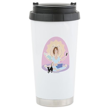 Busy Zen Mom Stainless Steel Travel Mug