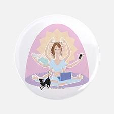 """Busy Zen Mom 3.5"""" Button"""