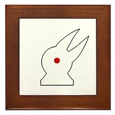 Albino Rabbit/Crow Framed Tile