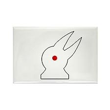 Albino Rabbit/Crow Rectangle Magnet