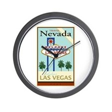 Travel Nevada Wall Clock