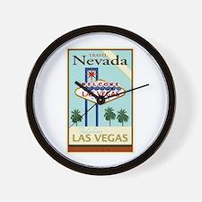 Travel Nevada Wall Clock
