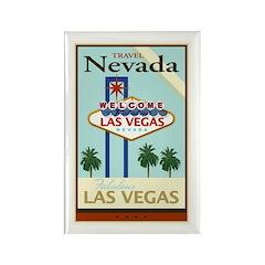 Travel Nevada Rectangle Magnet