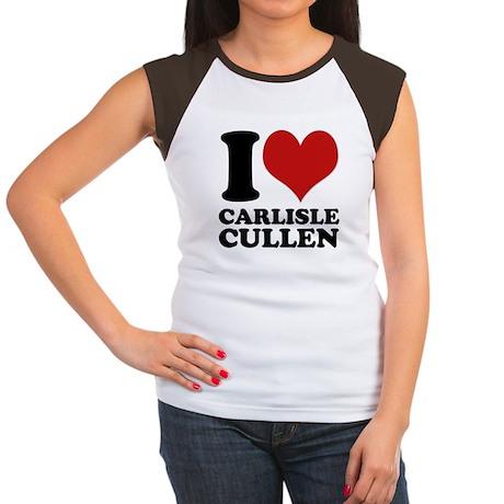 I Love Carlisle Cullen Women's Cap Sleeve T-Shirt