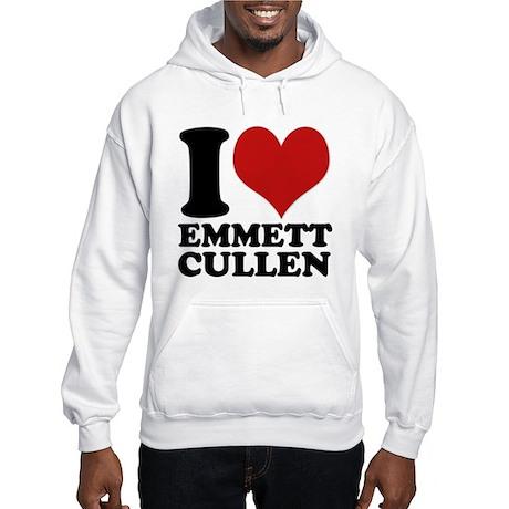 I Love Emmett Cullen Hooded Sweatshirt