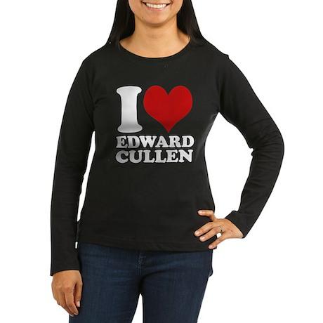 I Love Edward Cullen Women's Long Sleeve Dark T-Sh