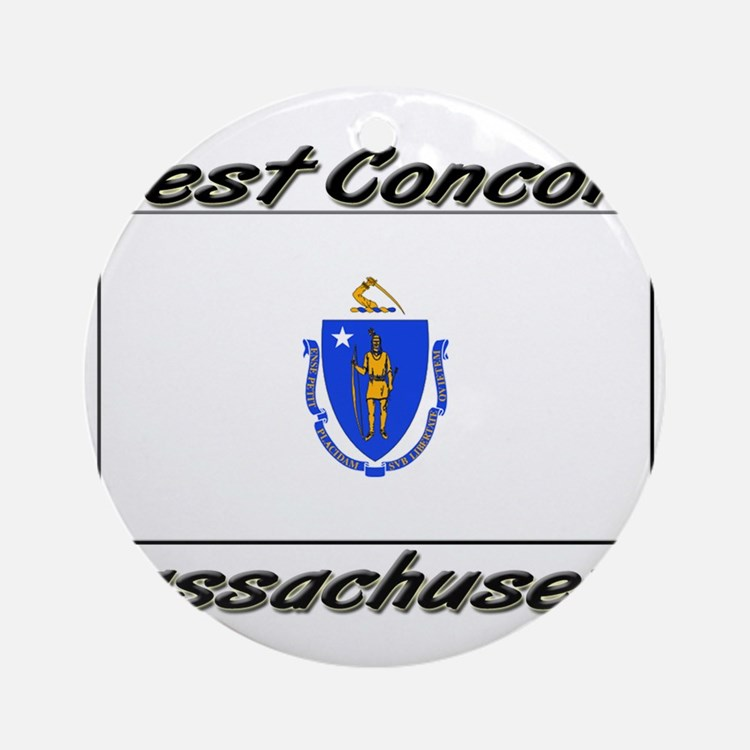 West Concord Massachusetts Ornament (Round)