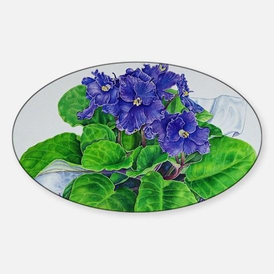 Cute Violet Sticker (Oval)